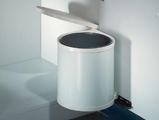 m lleimer rund schwenkbar wesco einbau abfallsammler 11 13 15l k che abfalleimer ebay. Black Bedroom Furniture Sets. Home Design Ideas