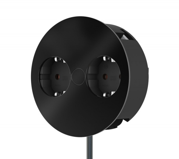 Bachmann Twist Einbau-Steckdose in schwarz