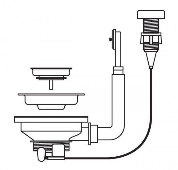 Pyramis Drehexenter-Ventil 92mm quadratisch