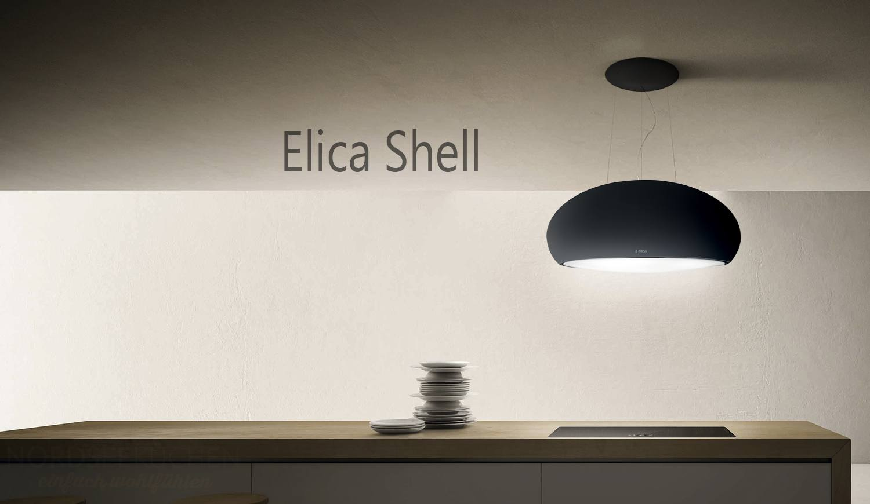 Elica shell cm glas weiß inselhaube prf