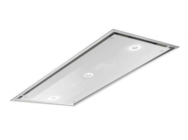 Deckenlüfter Otello Slim von Airone Edelstahl-Glas 85x55cm