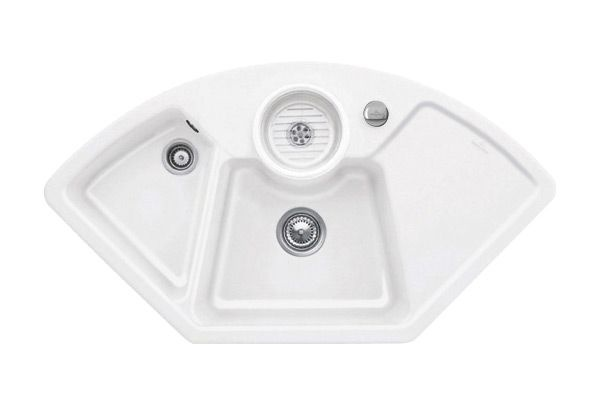 Villeroy & Boch Solo Eck Keramikspüle für den Küchen-Eckschrank