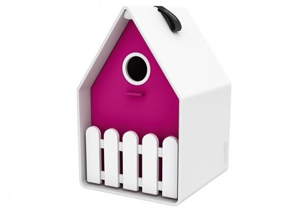Emsa Nistkasten und Vogelhaus in Farbe Pink und Grün