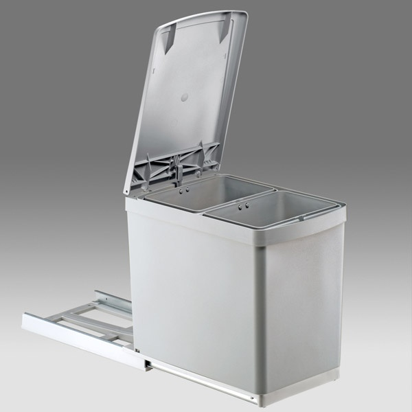 Wesco 30DT Einbaumülleimer 2 x 7,5 Liter