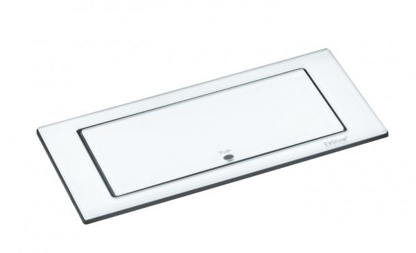 EVOline Backflip weiß Glas matt USB Steckdose