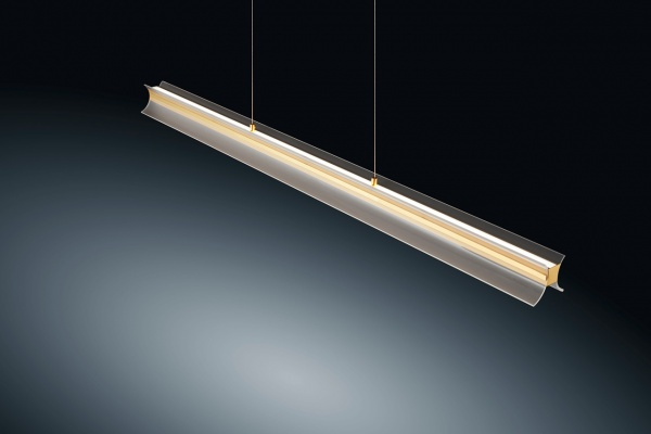 LED Pendelleuchte Rucca Messing