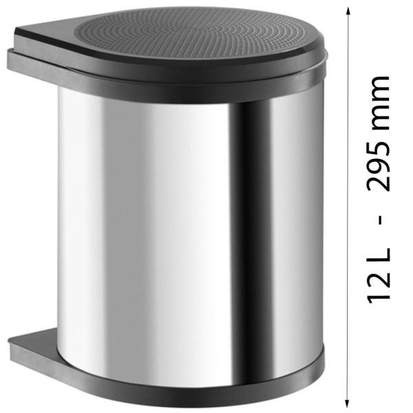 Hailo AS Mono 12 15 Liter Edelstahl oder weiß