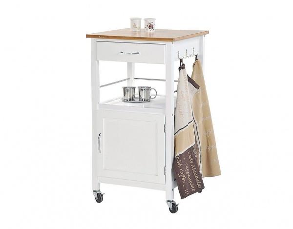 Küchenrollwagen im Landhausstil in weiß Modell Sylt