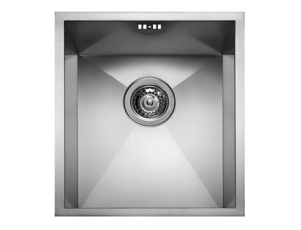 Pyramis Tetragon 40x40 IB Edelstahl-Küchenspüle flächenbündig