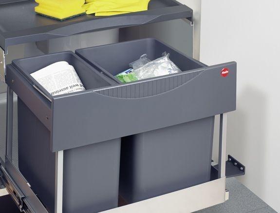 Hailo Raumspar-Tandem S Plus 3644-62 Mülleimer 30 Liter Inhalt