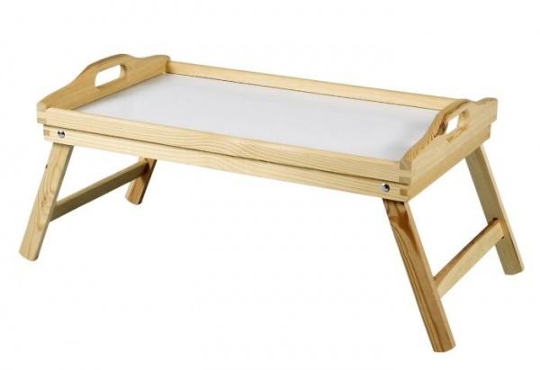 Bett- und Serviertablett aus Holz zusammenklappbar