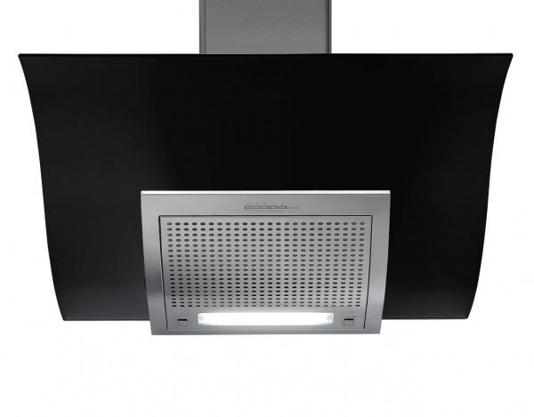 falmec adara 90 cm kopffreihaube glas schwarz. Black Bedroom Furniture Sets. Home Design Ideas