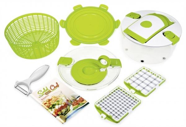 Salat Chef Schneid. und Schleuder-Set 9-teilig