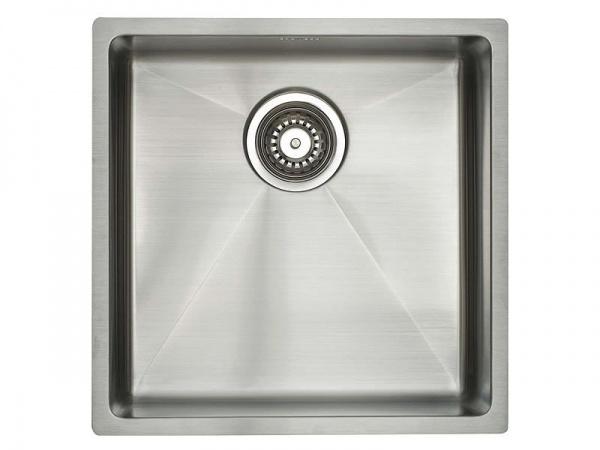 Lavabo Kubus 400 soft Edelstahl-Küchenspüle