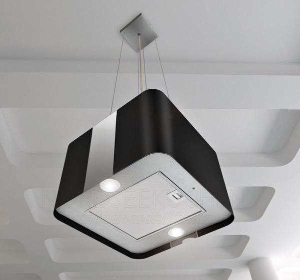 airforce f181 aria villa inselhaube edelstahl schwarz 45x45cm. Black Bedroom Furniture Sets. Home Design Ideas