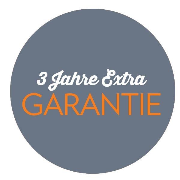 3 Jahre Extra-Garantie für Ihre Haube
