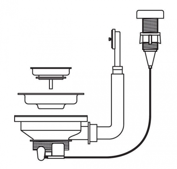 Pyramis Drehexenter-Ventil 60mm
